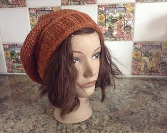 Cinnamon Knitted Slouch Hat