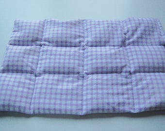 SALE, DISCONTINUED, Weighted Therapy Lap Pad, 2 Lb, Purple Gingham, ADHD