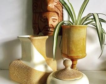 Vintage Royal Haegar Pottery Textured Vase