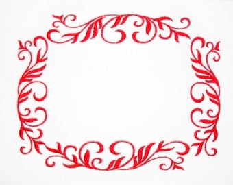 Filigree Flourish embroidered quilt label to customize with your personal message