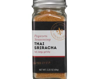 Sriracha Spicy Popcorn Seasoning with Red Jalapeno Chiles