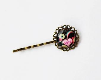 """Baroque bar """"Love"""", girl hair clip hair accessory"""