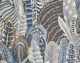 Feathers in Grey  PWPJ055 - Philip Jacobs - Kaffe Fassett Collective - Free Spirit Fabric - By the Yard