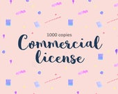 Clipart Commercial License / Licence / 1000 copies or less