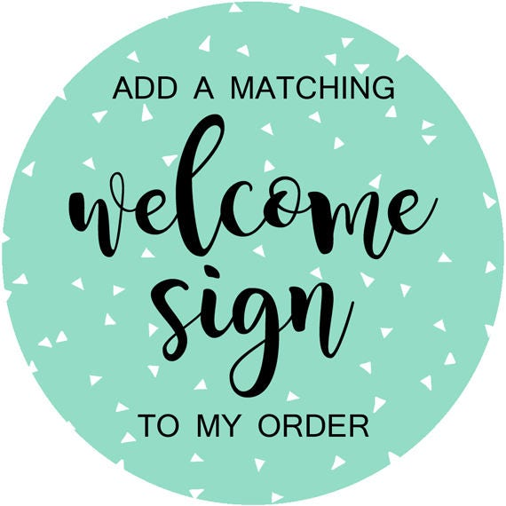 photo about Out of Order Sign Printable known as Coordinating Welcome Indicator, Customized Party Signage