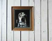 Custom Pet Black Velvet Portrait - 14 x 16