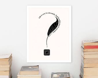 EM FORSTER Literary Art Print Poster, Minimalist Art, Bookworm Gift for English Major, Book Lover Gift for College Student
