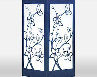 Cherry Blossom Design Laser cut Luminary Table Lamp Centerpiece - #96