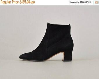 SUMMER SALE 90's FERRAGAMO Black Ankle Boots (Us 5.5)
