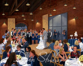 Wedding Artist in Wilmington, NC ~ I will paint at your wedding! ~ A Unique Wedding Idea! I can also paint from your old wedding photos!