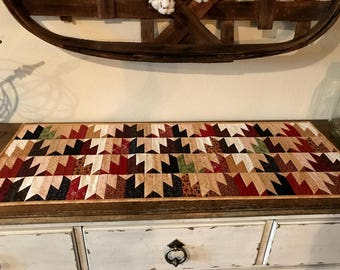 Quilted Table Runner /Country Decor /Handmade / Primitive Decor  MW