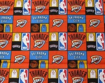 Oklahoma City Thunder NBA Fabric BTY
