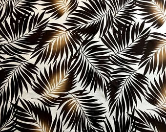 Lycra Fabric Remnant Hawaiian Leaves Floral Print Lycra Swimwear Fabric Crafts Sewing YR60C