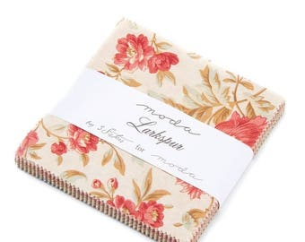 ON SALE Moda Fabric LARKSPUR By 3 Sisters  42 Piece Charm Pack