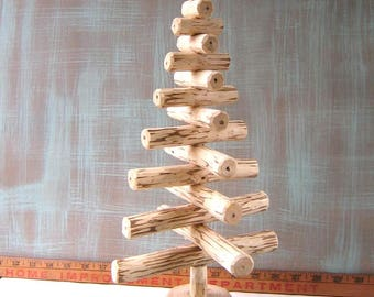 Tabletop Christmas Tree, Rustic Christmas Tree, Holiday Centerpiece, Holiday Decoration, by Fig Jam Studio