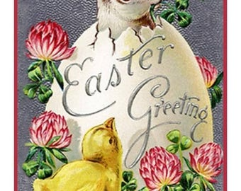 GREAT SALE Vintage Easter Bunny Rabbit Easter Egg Chick Counted Cross Stitch Chart / Pattern