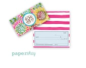 Checkbook Cover, SUNFLOWERS, Monogrammed Checkbook, Personalized Checkbook