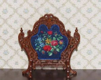 Dollhouse Miniature Firescreen Needlepoint Petit Point 2