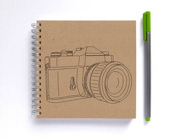 Notebook/Sketchbook/Journal • SMALL 14cm/5.5in Square • Choose Your Illustration