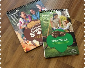 Girl Scout Cookies Notebook, Smores, Thin Mints, Recycled Spiral Bound Notebooks, Cookies, Jotter