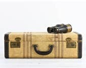Reserved Vintage Suitcase Striped Suitcase Old Suitcase Tweed Suitcase Croc Embossed Leather Suitcase Luggage Old Luggage Suitcase Retro Sui