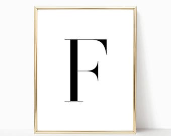 SALE -50% Letter F Monogram Alphabet Name Digital Print Instant Art INSTANT DOWNLOAD Printable Wall Decor