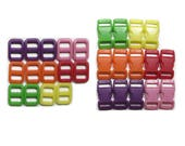 """100 SAFETY Buckles with Matching Triglides  3/8"""" (10mm)  - Six Colors to Choose From"""