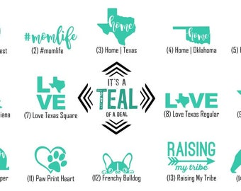 Teal of a Deal Vinyl Decal Sale | Select Your Favorite Design