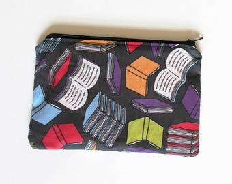 Rainbow Books Library Zipper Bag Pouch Pencil Case | Gifts Under 15 Dollars