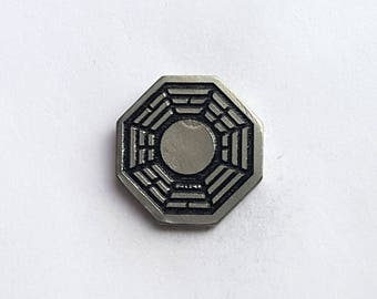 Hand Cast Pewter Dharma Pin - one inch