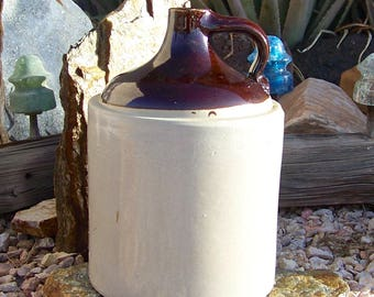 Vintage Stoneware Jug 2 Gallon Shoulder Jug Crockery Jug 1900s