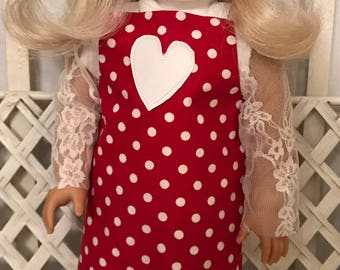 American Girl Doll or 18 in Doll  Jumper w/ lace tights and top
