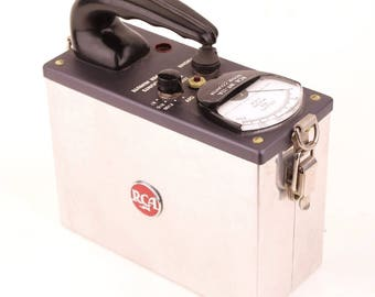 Vintage  RCA WF-11A Geiger Counter w Built in Type 6306 Counter Tube w Box NJ