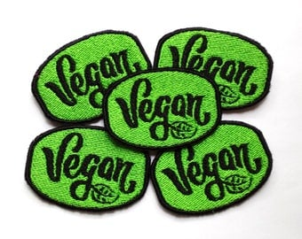Vegan Veggie Lover Embroidered Patch