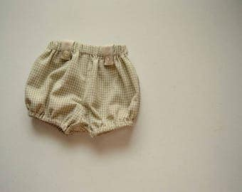 Green Plaid Tab Bloomers by Papoose Clothing