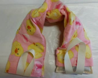 Hot/Cold Therapy Neck Wrap with straps and washable cover Rubber Ducks