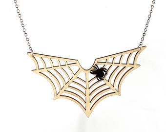 Spider Web Necklace #6150