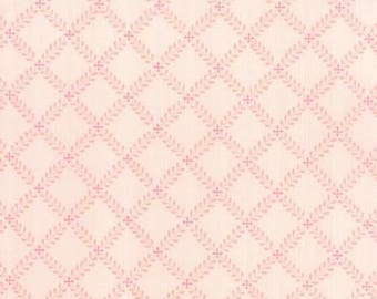 Custom order - 2 yards of Windermere Blossom Fern Lattice in Pink by Brenda Riddle for Moda