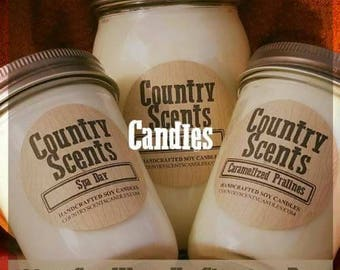 Handcrafted soy candles made in the USA