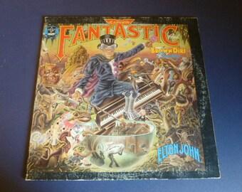 Elton John Captain Fantastic And The Brown Dirt Cowboy Vinyl Record LP MCA-2142 (2) Record Set  MCA Records 1975