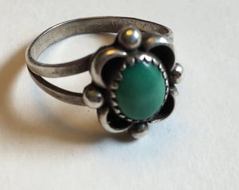 Sterling silver Turquoise ring Navajo made     VJSE