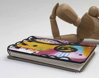 Mini Motley Art Journal #1; ATC size