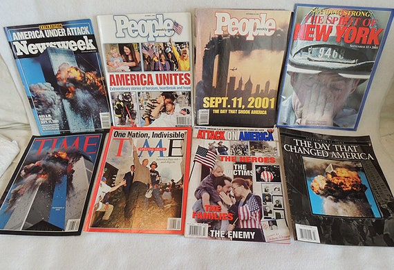 8 Magazines On 9/11 Sept 11, 2001, Time, Newsweek, People.. Special Editions Plus