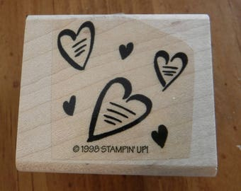 Stampin Up Playful Hearts Single Stamp #A23