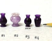 Dollhouse Miniature Turned Acrylic Vases IGMA Fellow Linda Master Miracle Chicken