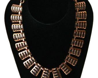Vintage 1950's Copper Necklace by Renoir