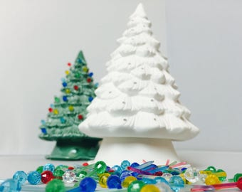 DIY Ceramic Christmas Tree Kit | U Paint | Kids Projects | Family Heirloom for years to come, handmade in my Charleston, SC Studio