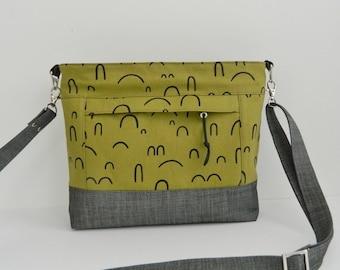 Luisa crossbody bag, diy, pdf, bag pattern, purse, instant download, sewing pattern, patterns, inset zipper closure, zipper pocket handbag