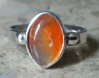 Mexican Fire Opal Ring Size # 7