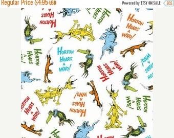 CIJ Horton Hears A Who, Adventure, Dr. Seuss Robert Kaufman Fabrics